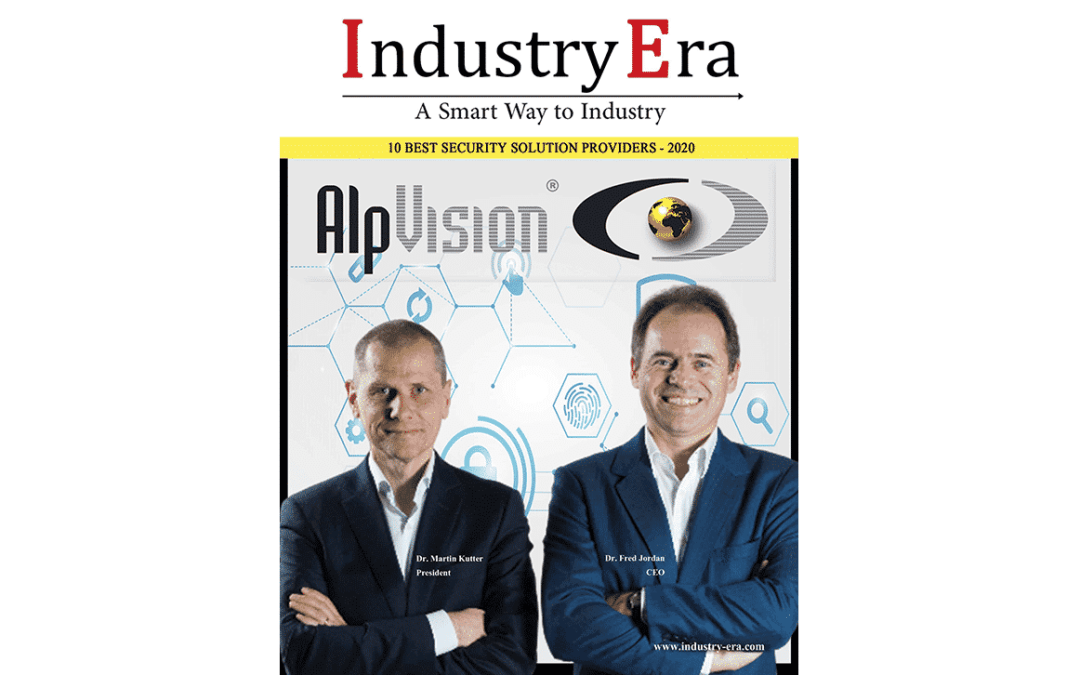 AlpVision named in the TOP 10 Security Solution Providers