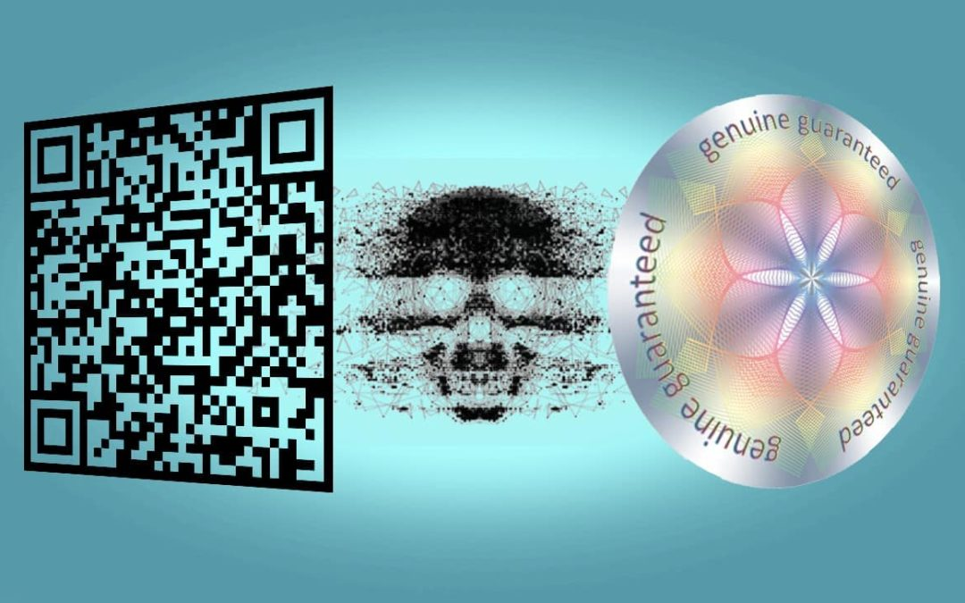 combining hologram and qr codes for counterfeit protection